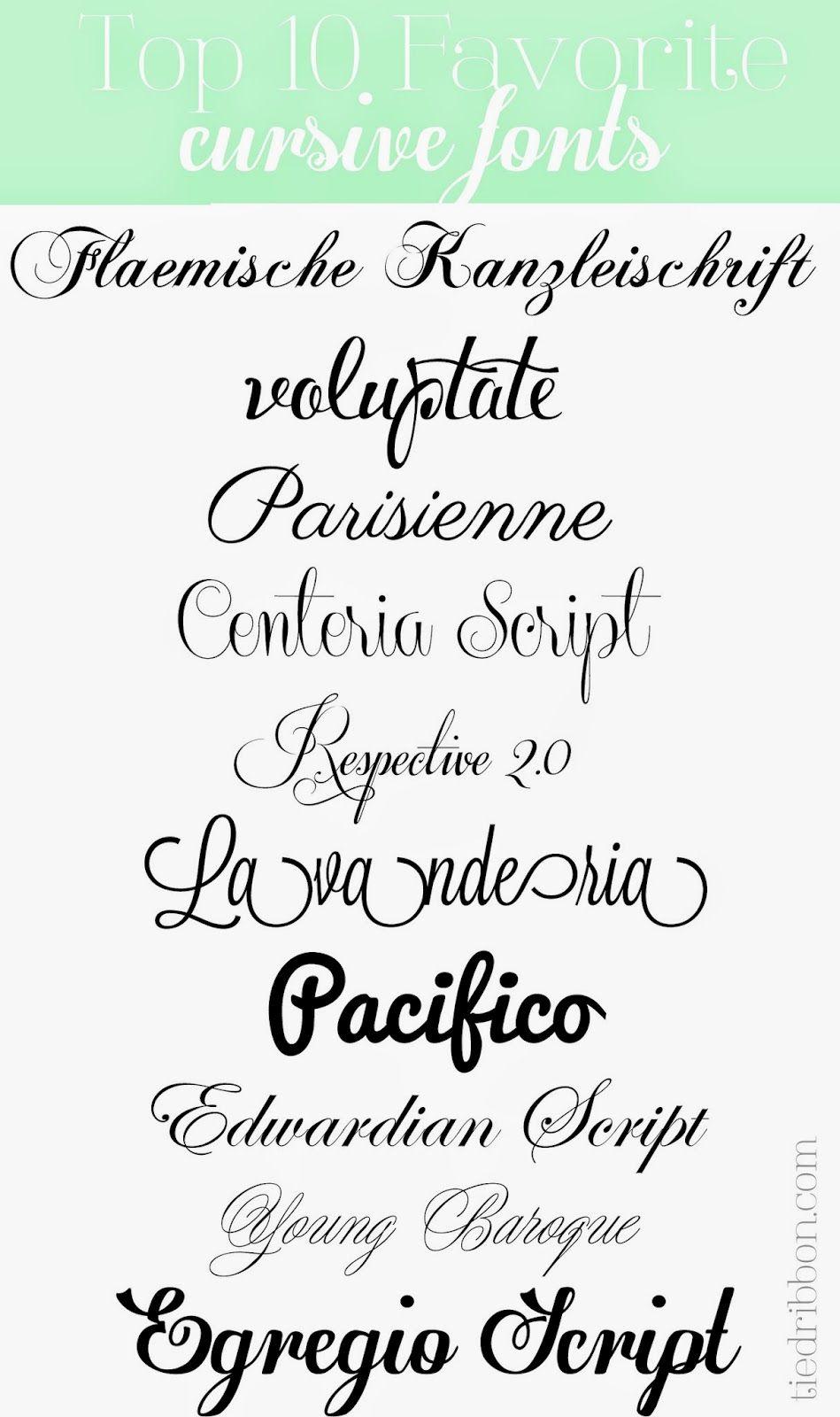 Top 10 Cursive Fonts | Fonts & Design | Cursive fonts ...