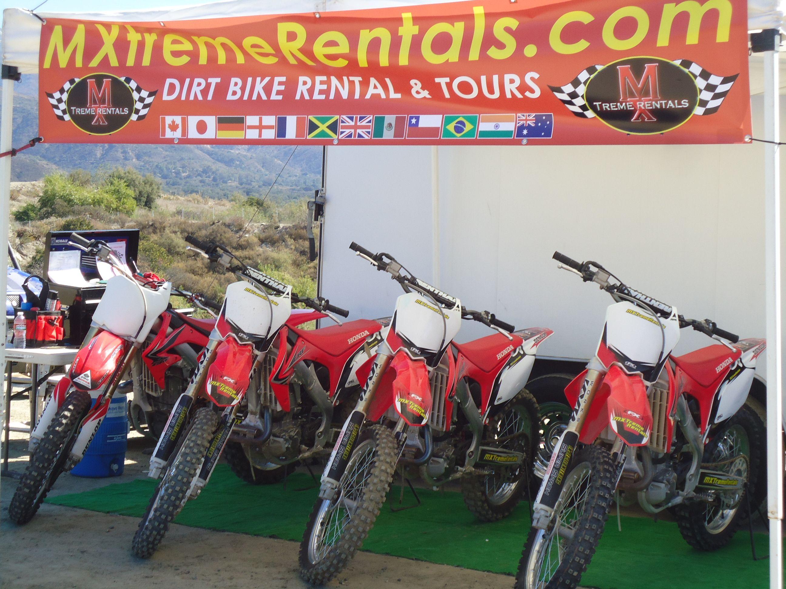 dirt bike rentals and trails