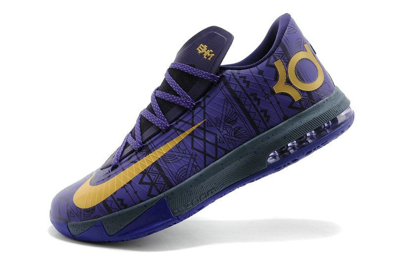 new style c69a6 b46df Nike KD 6 Fashion BHM Purple Venom Metallic Gold Purple Dynasty 646742 500