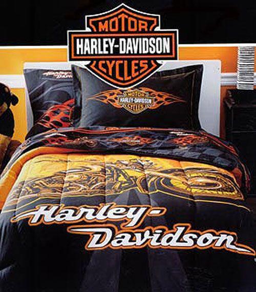 Harley Bed Set Harley Davidson Comforter Set Twin Bed Harley Davidson Bedding Harley Davidson Decor Harley Davidson
