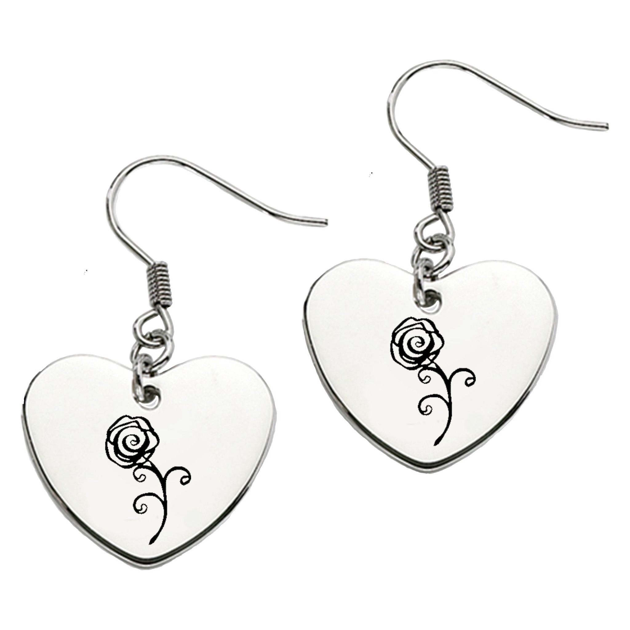 luulla studs earrings on shape original heart in diamond cutout silver product
