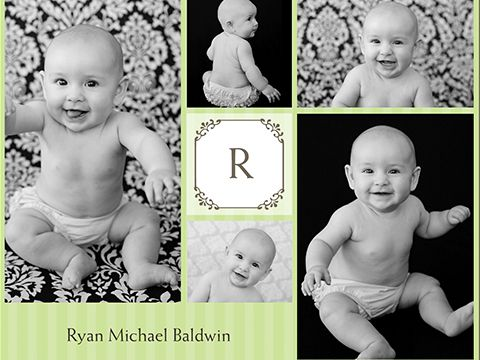 baby monogram collage