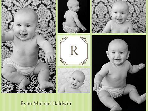 baby monogram collage