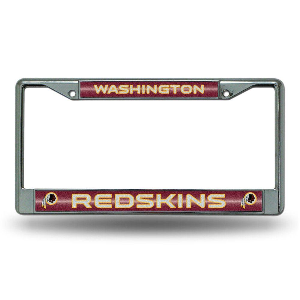 Washington Redskins NFL Bling Glitter Chrome License Plate Frame ...