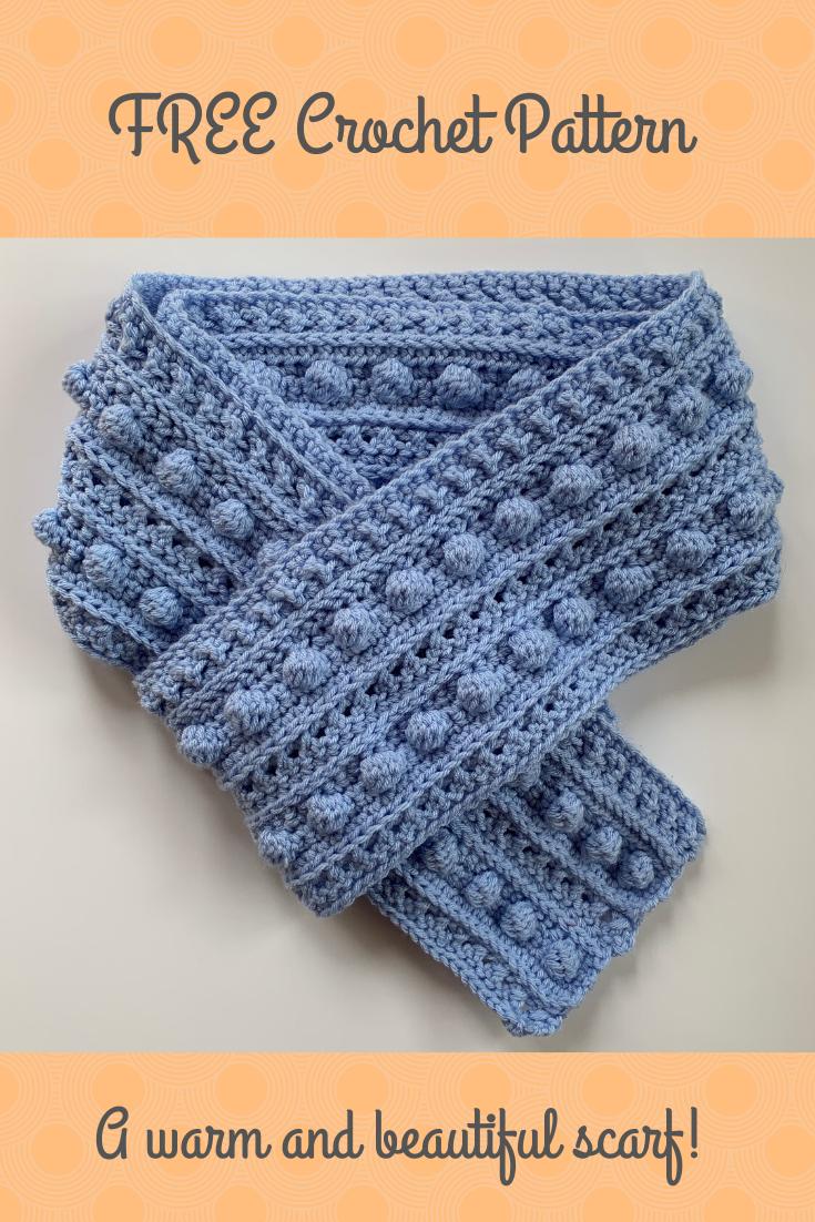 Beautiful Crochet Scarf Pattern In 2020 Crochet Scarf Pattern Free Scarf Crochet Pattern Bobble Crochet