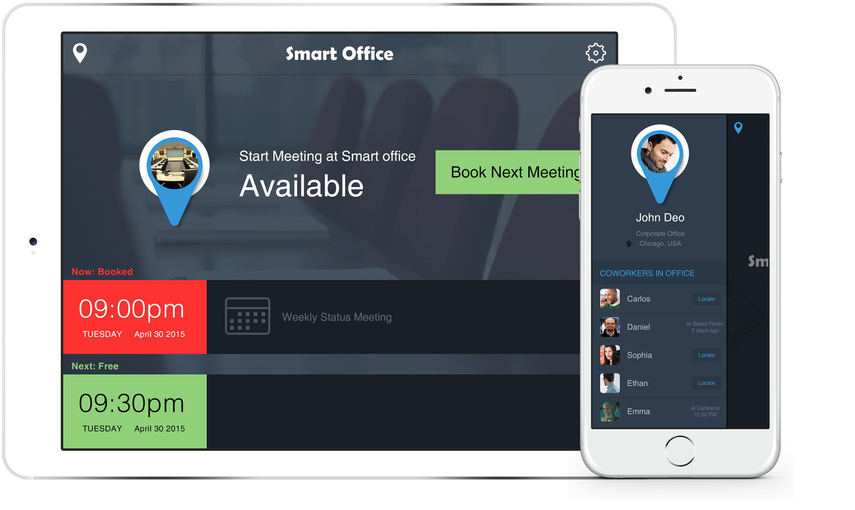 Conference Room Scheduling Made Easy, Meeting Room Display