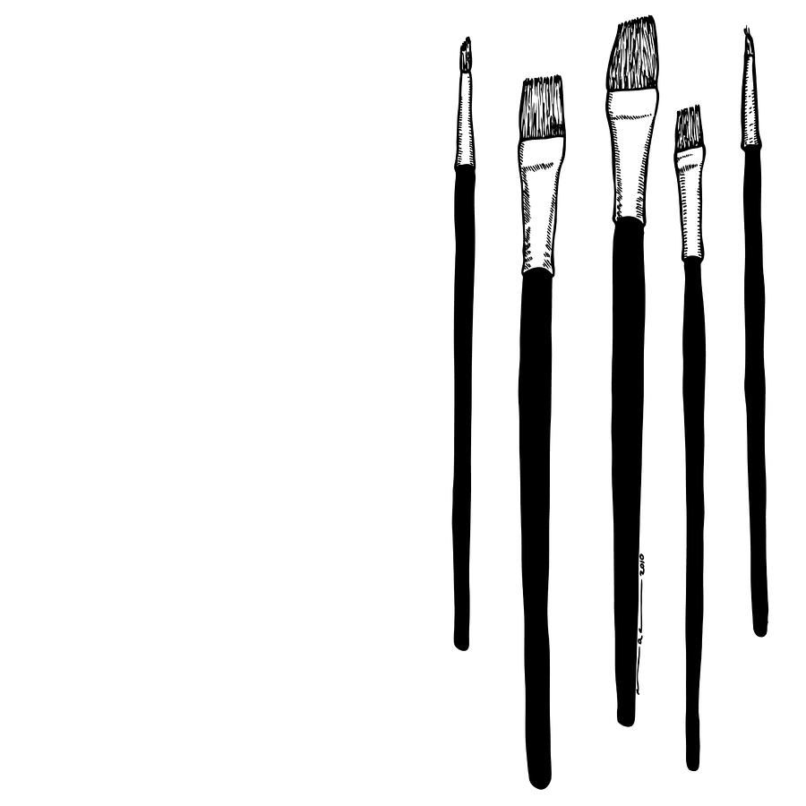 Line Art Brushes Photo : Paint brushes graphics on pinterest
