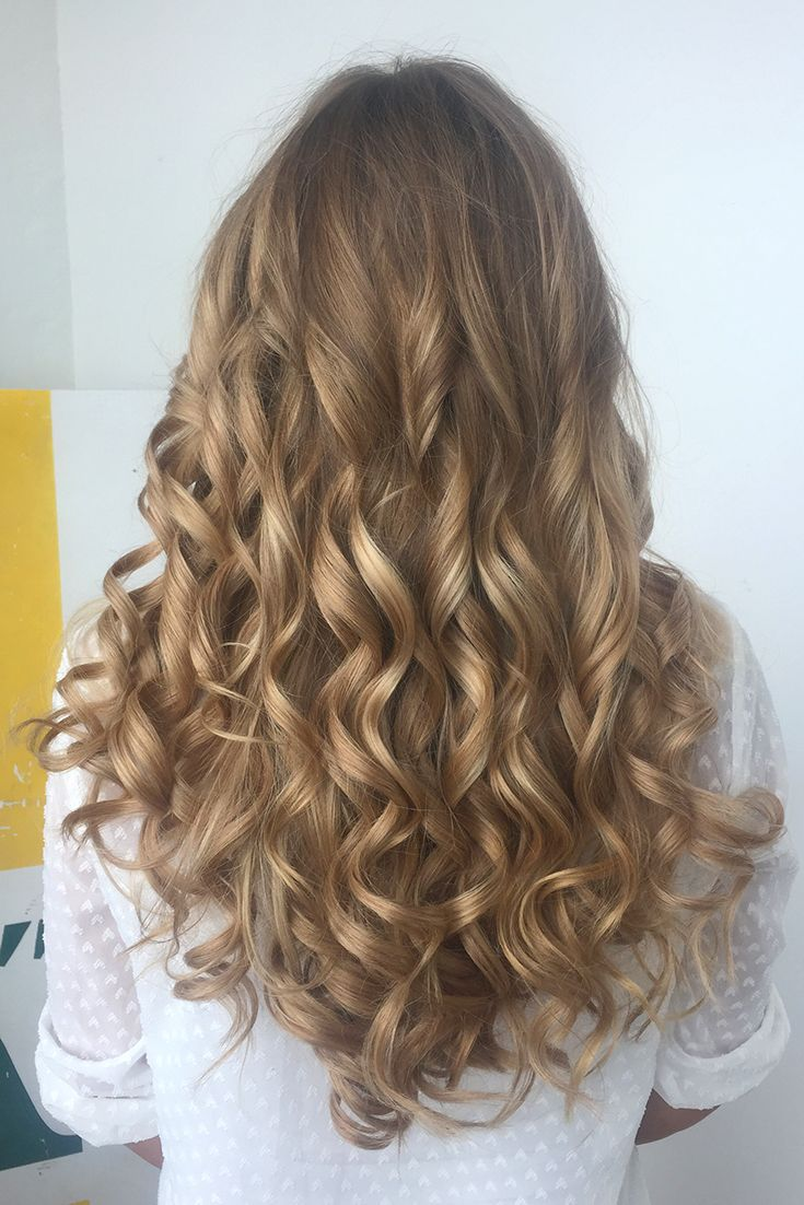 Gorgeous Thick Voluminous Perfect Curls With Dirty Blonde Luxy Hair