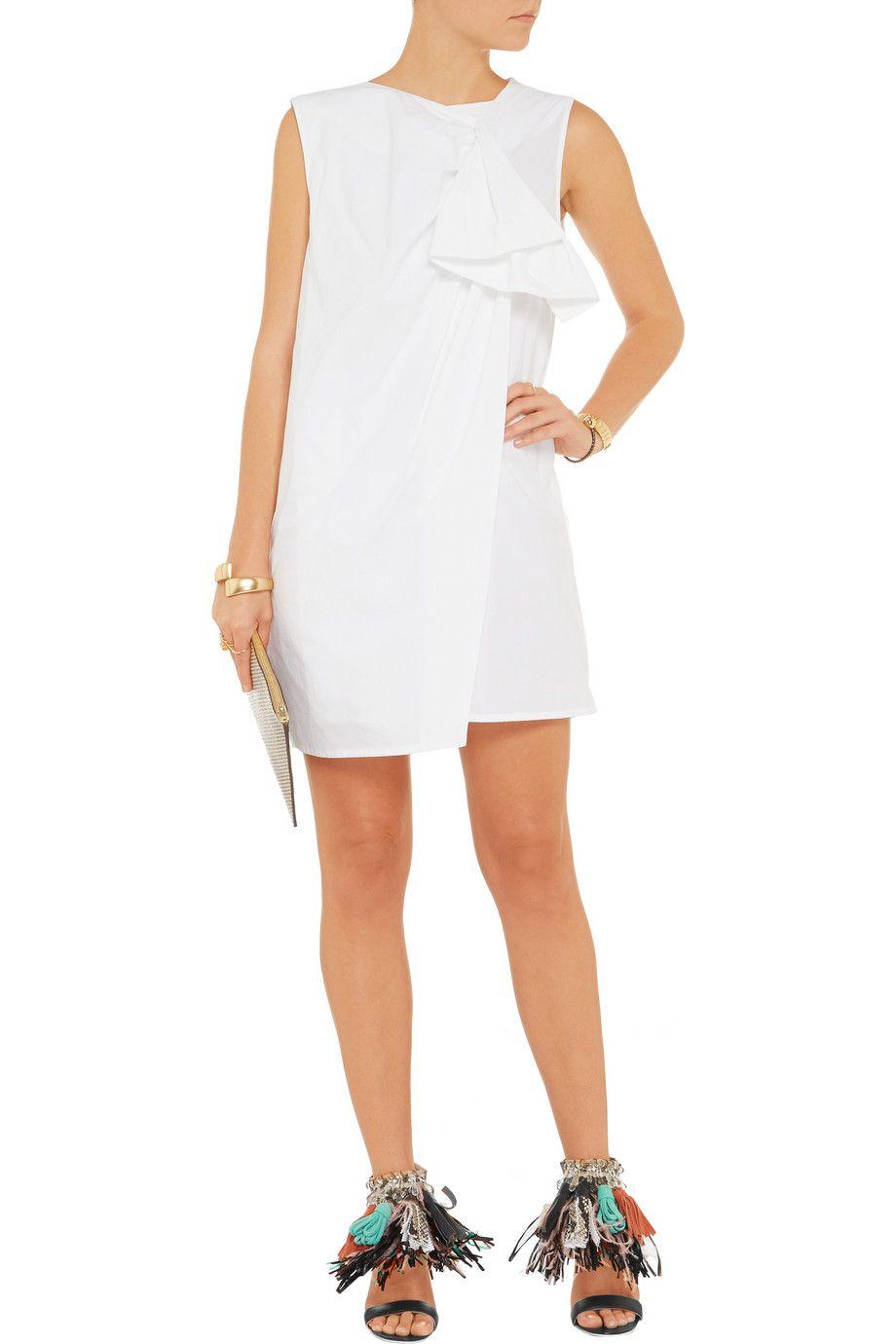 MSGMDraped cotton mini dress
