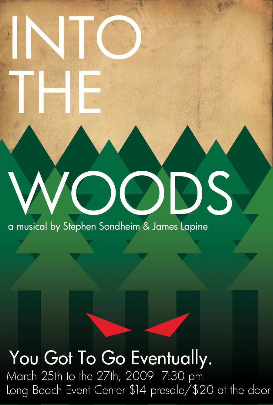 Into The Woods Minimal Poster By Pandaproduction