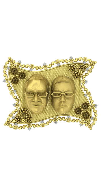 Family Photo Frame Gold Anniversary gifts for parents