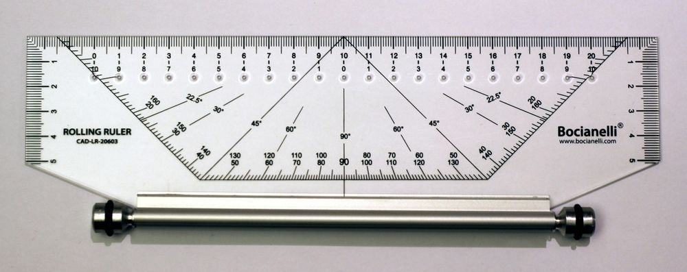 25cm 250mm Professional Metric Parallel Rolling Ruler Technical Drawing Art