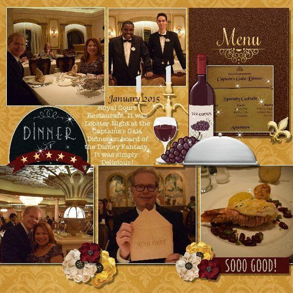 Captain's Gala Dinner > Digital Scrapbook Layout By Teresa