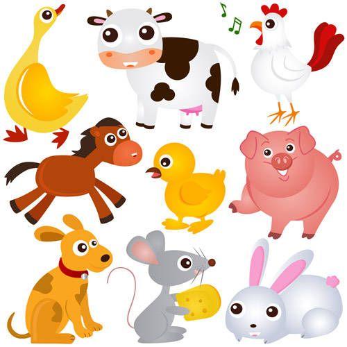 Cute Farm Animals Clip Art Farm Animals Animal Silhouette Animal Illustration
