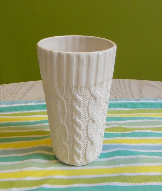 """knitted"" cup"