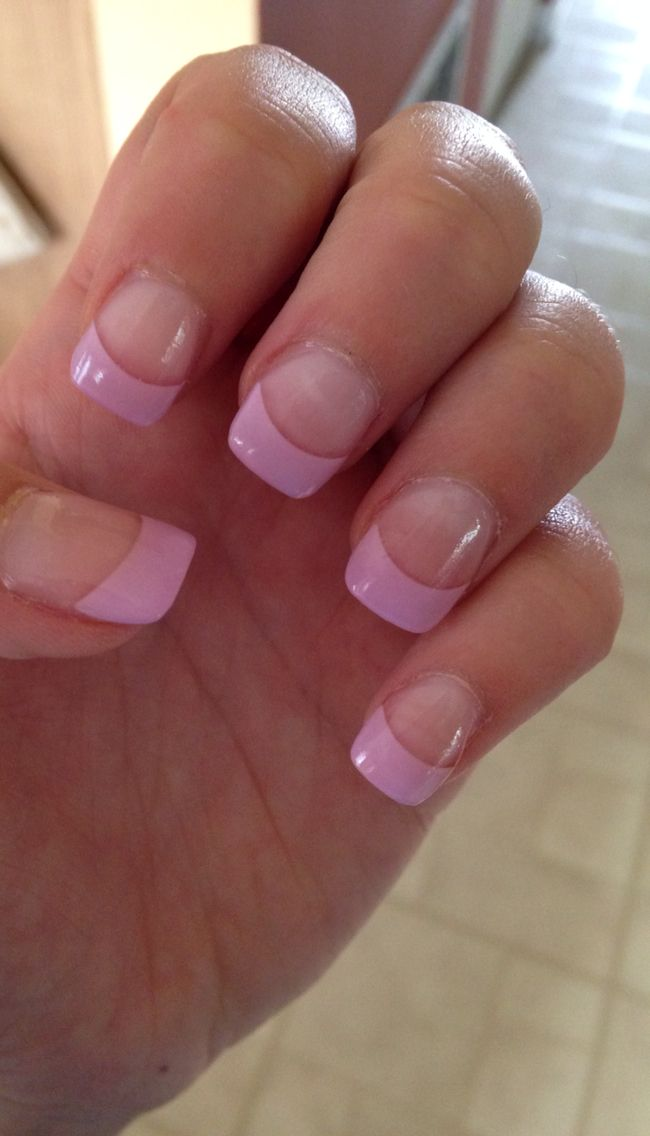 #Frenchtip #purple #acrylic #nails | French tip nails ...