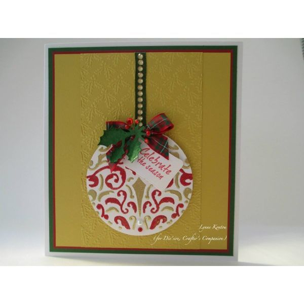 embossalicious christmas ornament - Google Search
