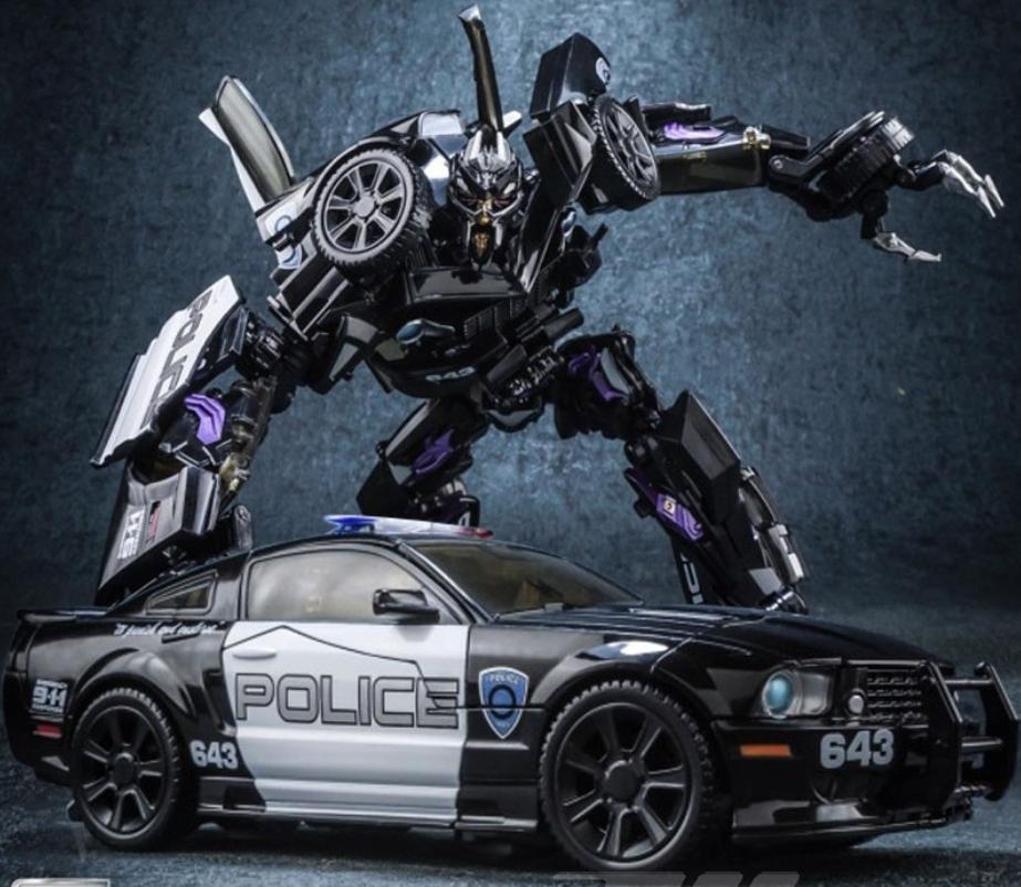 New Transformers 5 Black Mamba Alloy Infantry Roadblock Police Car MPM05