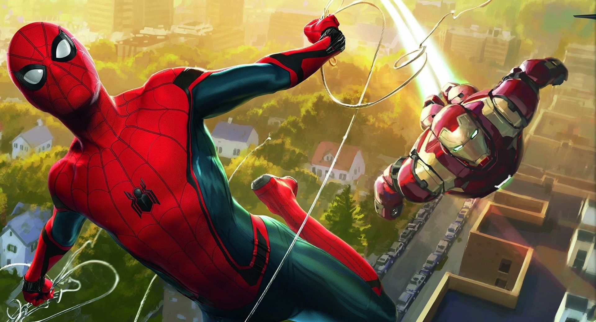1920x1040 Spiderman Homecoming Wallpaper For Pc Free Man Wallpaper Iron Man Artwork Iron Man Spiderman