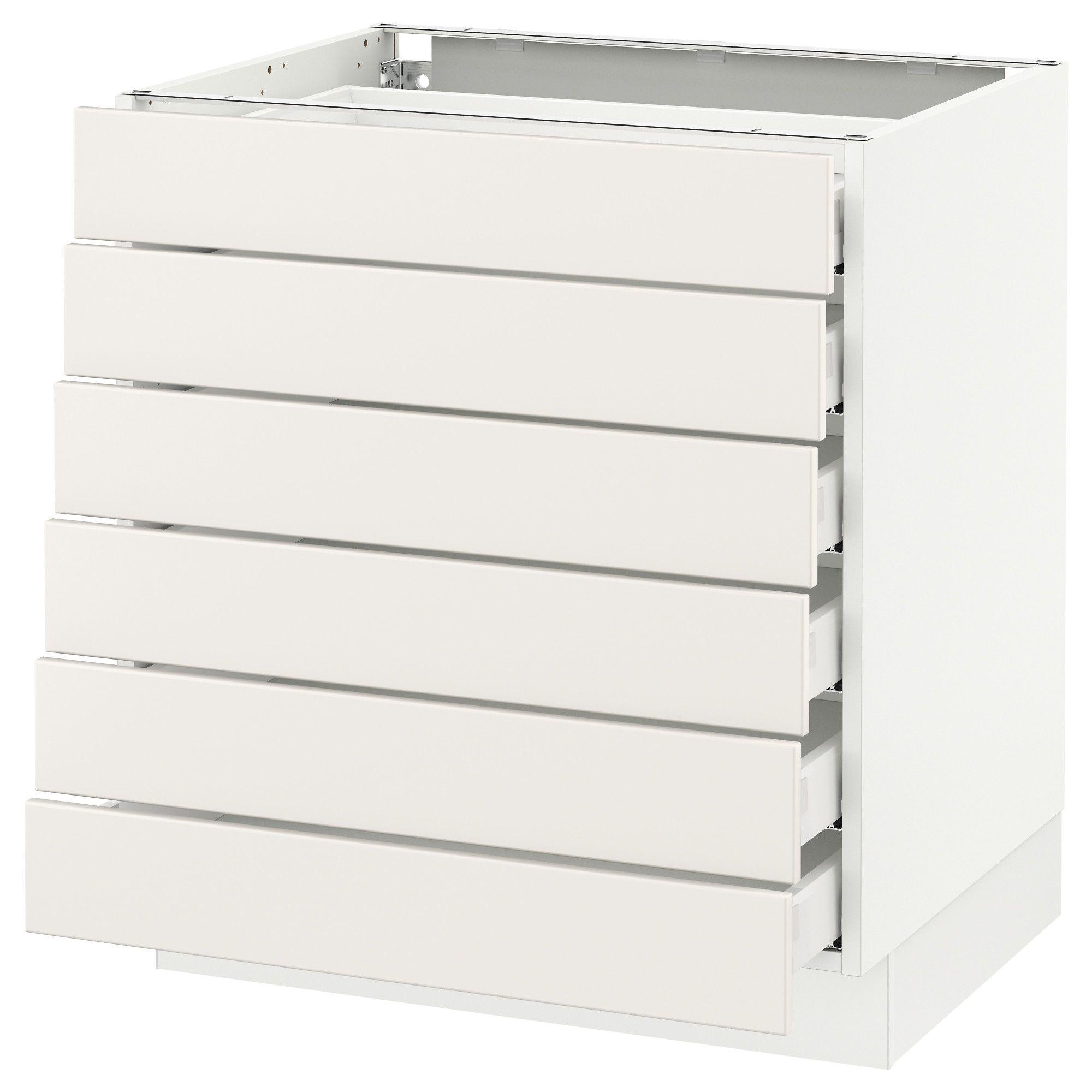Sektion Base Cabinet 6 Fronts 6 Low Drawers White Maximera Veddinge White 30x24x30 Ikea In 2021 Base Cabinets Ikea Drawers