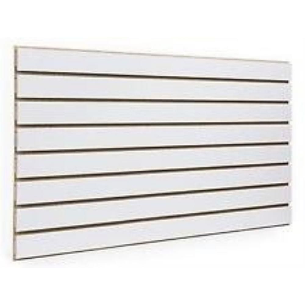 Only Hangers 24 In H X 48 In L White Slatwall Panels Set Of 2
