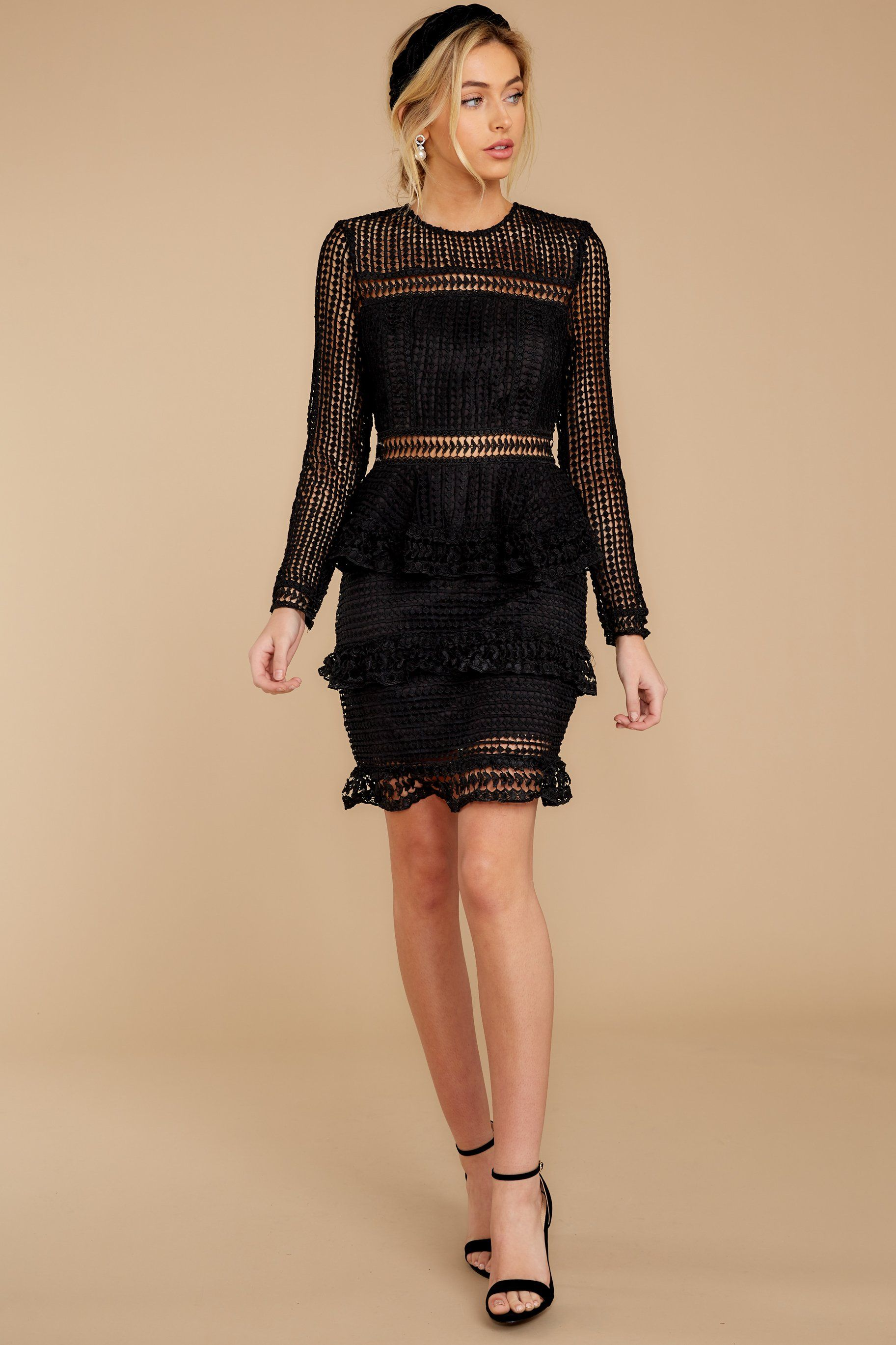 Out For Love Black Lace Dress