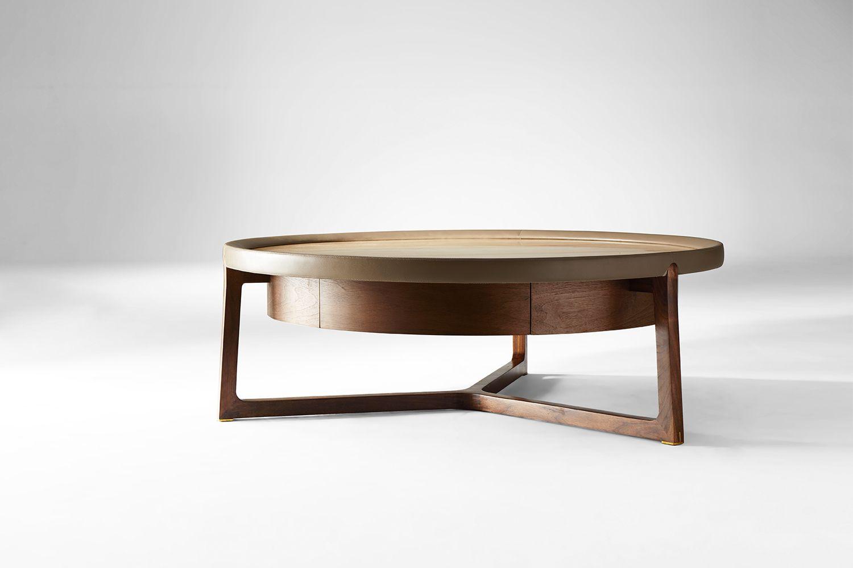 Beck 圆茶几 Coffee Table Leather Ottoman Coffee Table Coffee