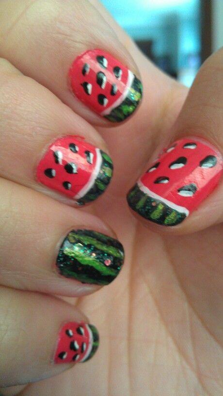 Watermelon #summernails Saloné Milwaukee, wi   Nail art   Pinterest