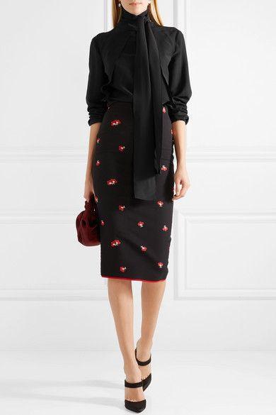 d406f7ae519aef Bottega Veneta - Scarf washed silk crepe de chine blouse | Products ...