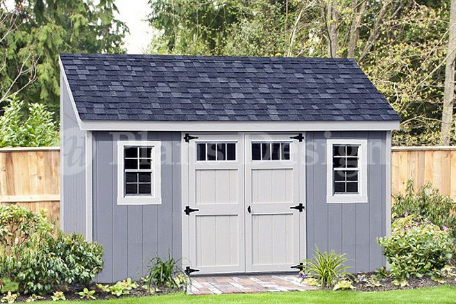 storage shed plans 6 x 14 deluxe lean to slant d0614l free material list - Garden Sheds 7 X 14