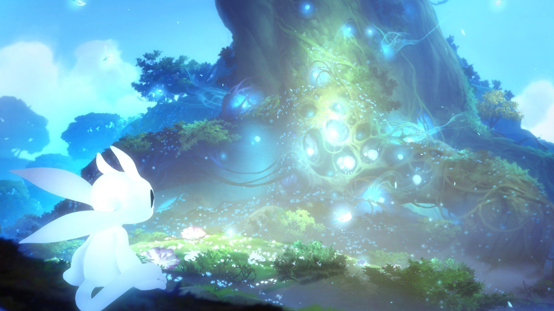 Ori And The Blind Forest Game Art Johannes Figlhuber Forest Wallpaper Forest Games Game Art