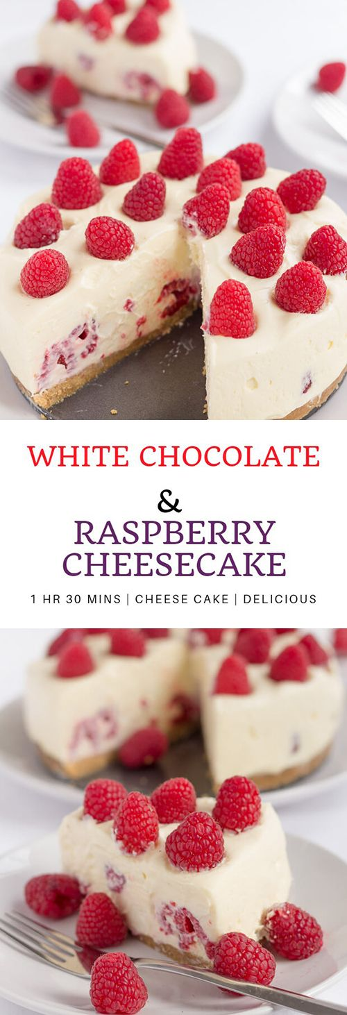 How To Make White Chocolate And Raspberry Cheesecake | Cooking Mama Recipe #whitechocolateraspberrycheesecake