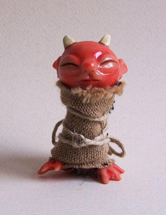 Red Imp Baby by El Dodo Albino on Etsy