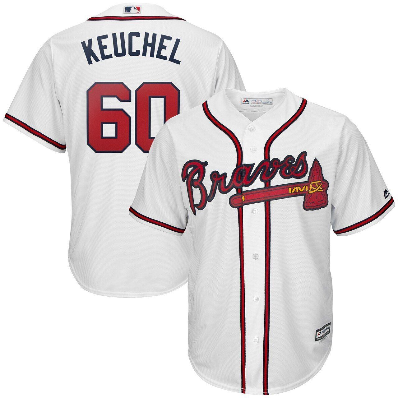 Dallas Keuchel Atlanta Braves 60 Jersey White Atlanta Braves Jersey Braves Jersey Atlanta Braves