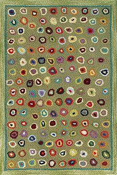 Millefiori Wool Hooked Rugs Textiles Shaker Works