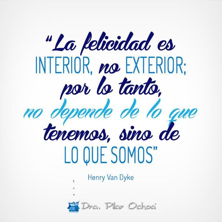 La felicidad es interior no exterior por lo tanto no for Que es exterior y interior