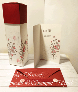 Hand Decorated Box using Stampin' Up! Touches of Texture according to the idea of Sam Hammond (Pootles)