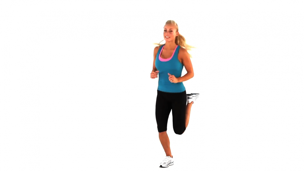 butt kickers cardio exercise step 1 exercise
