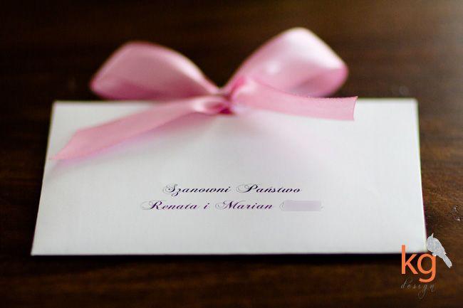 Indywidualny Projekt Zaproszenia ślubnego Biały Brudny Róż