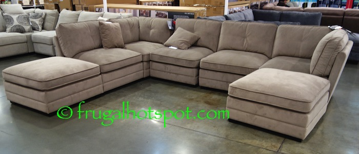 Bainbridge 7-Pc Modular Fabric Sectional. #Costco #FrugalHotspot : sectional sofas costco - Sectionals, Sofas & Couches