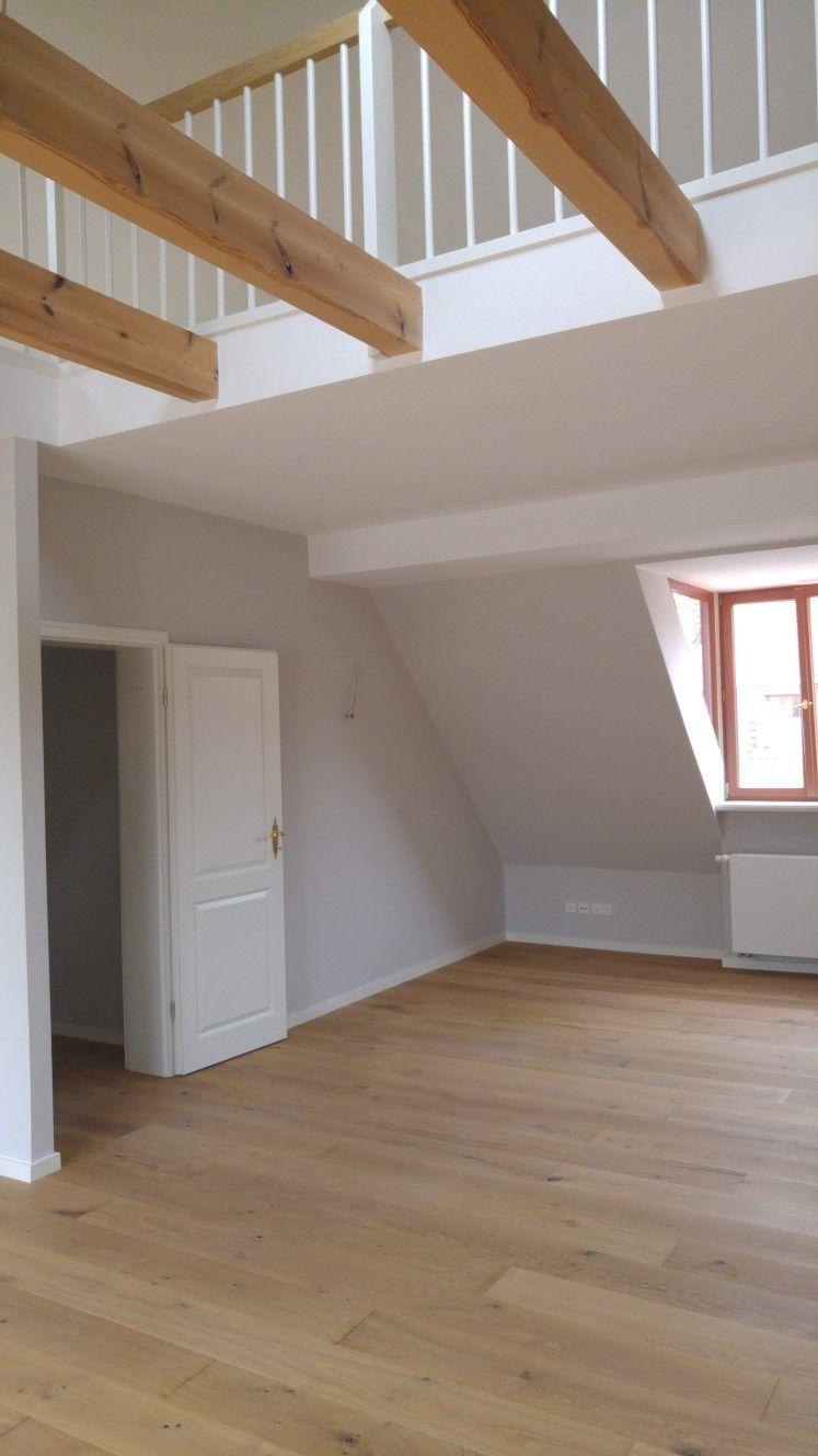Dachgeschossausbau Mit Galerie Um Luftraum Mit Neuen Deckenbalken Galerie Wohnung Dachgeschoss Dachbalkon