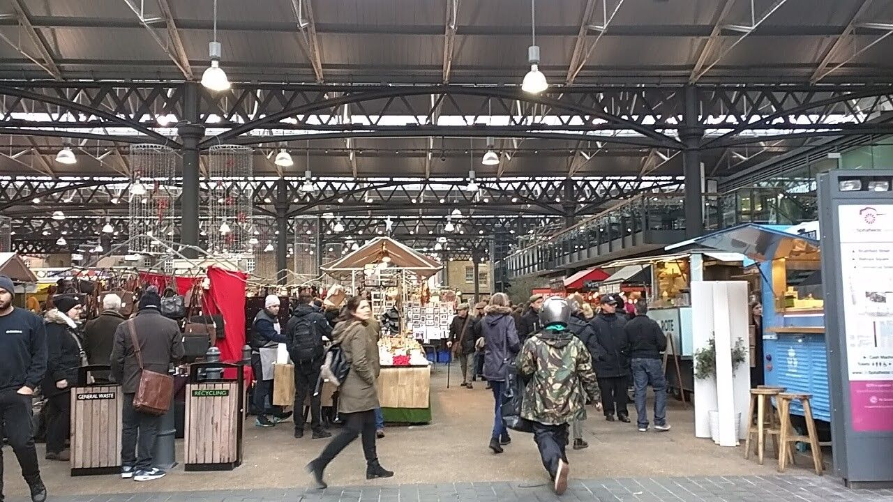 Its Christmas at the Old Spitalfields Market in London!