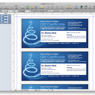 Christmas gift certificate template from mactemplates pages give someone a custom gift certificate this christmas with this christmas gift certificate template built for pages part of apples iwork suite yadclub Images