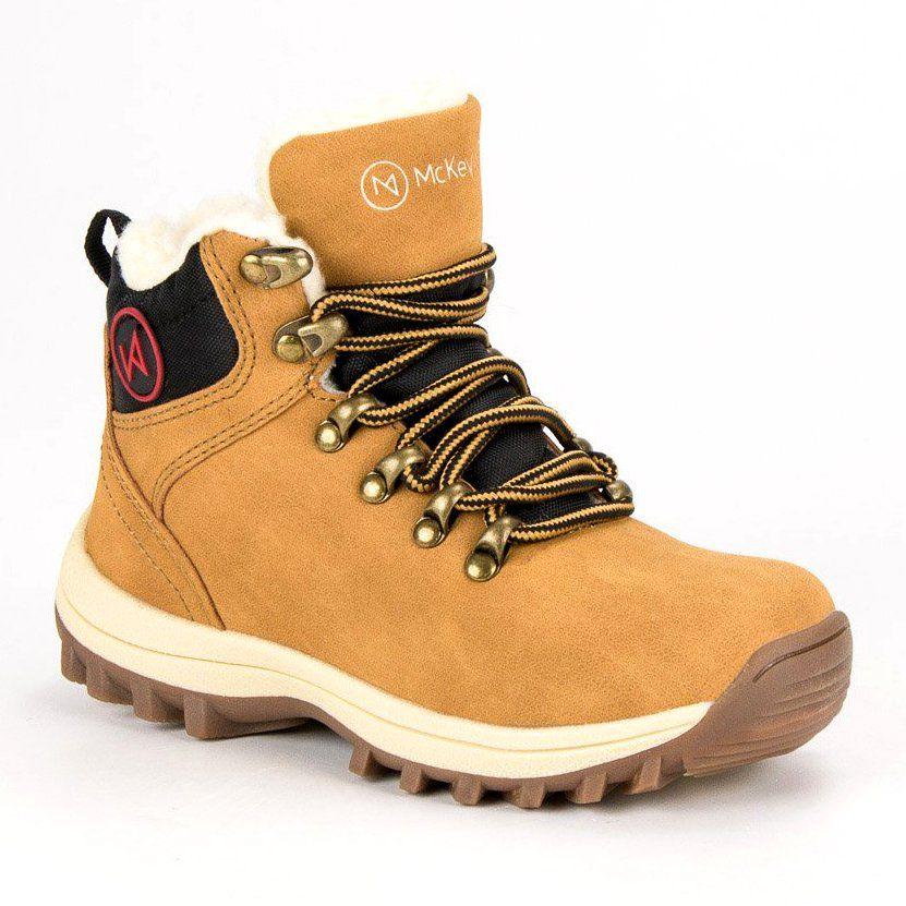 Kozaki Dla Dzieci Mckeylor Mckeylor Zolte Obuwie Z Kozuszkiem Mckeylor Boots Hiking Boots Shoes
