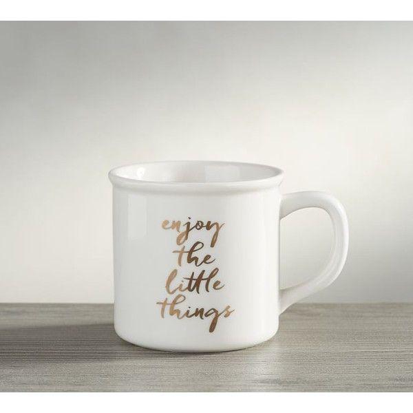 Pottery Barn Enjoy The Little Things Mug 7 Liked On