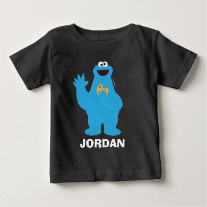 Sesame Street Personalized Cookie Monster Baby T Shirt