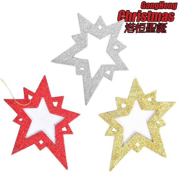 For dec  oration pendant 15cm scrub star sticky powder christmas tree 10g-inChristmas Decoration Supplies from Home  Garden on Aliexpress.com $12.78
