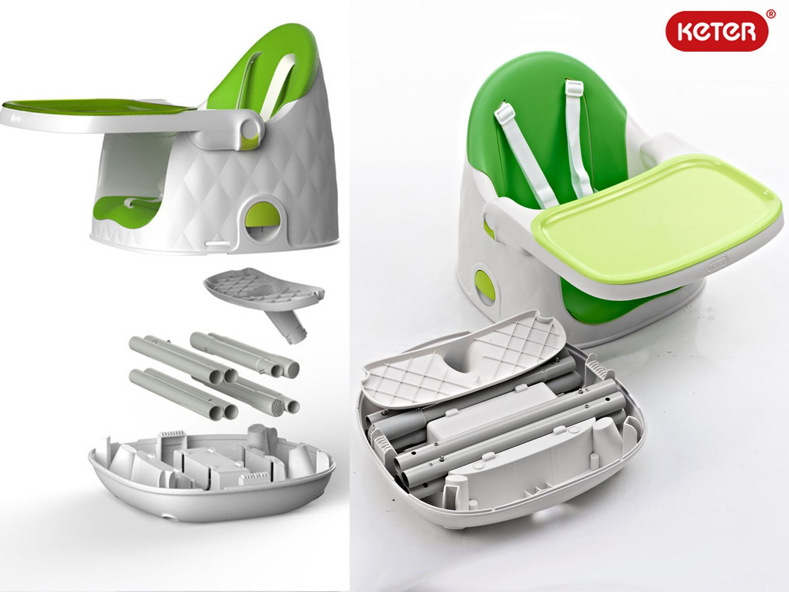 Discount on Keter Multi Dine High Chair Green chair
