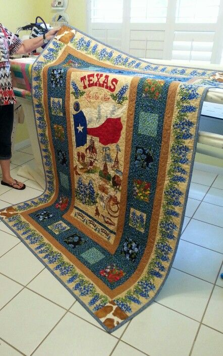 Texas The Lone Star State Quilt Designed By Me Vickie