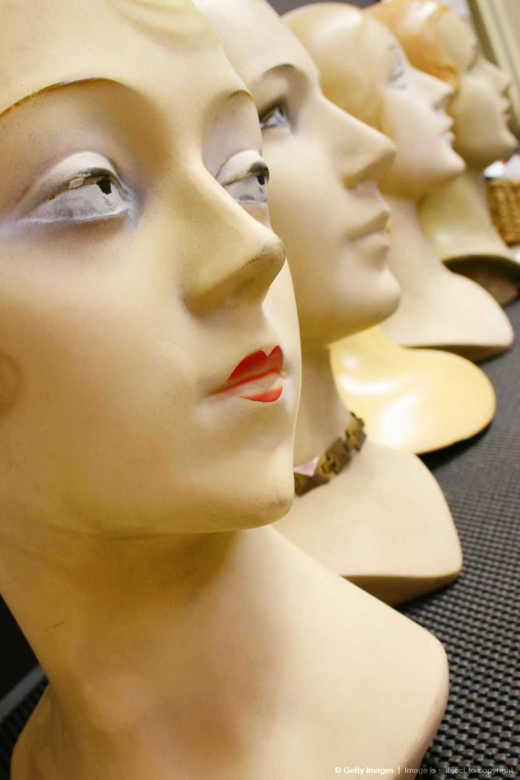 Vintage mannequin heads